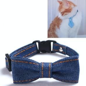 4 PCS Pet Cowboy Bow Tie Collar Cats Honden verstelbare tie collars huisdier accessoires benodigdheden  grootte: S 16-32cm  Stijl: Big Bowknot (Donkerblauw)