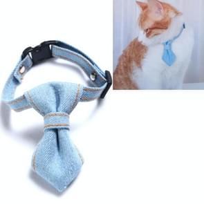 4 PCS Pet Cowboy Bow Tie Collar Cats Honden verstelbare tie collars huisdier accessoires benodigdheden  grootte: S 16-32cm  Style:Tie (Lichtblauw)
