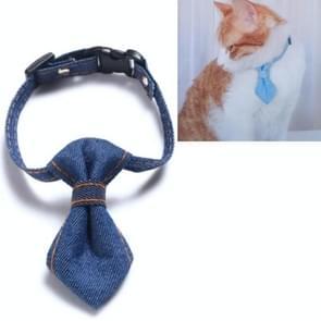 4 PCS Pet Cowboy Bow Tie Collar Cats Honden verstelbare tie collars huisdier accessoires benodigdheden  grootte: S 16-32cm  Style:Tie (Donkerblauw)