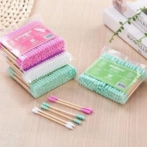 100 Pcs / Pack Double Head Ladies Cotton Swab Medical Nose Ear Cleaning Tool(Random Color Delivery)