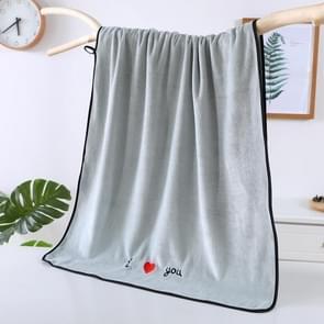 Zachte dikke absorberende vezel paar grote handdoeken  grootte: 70x140cm (Blauw)