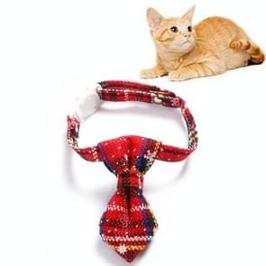 5 PCS Snowflake Christmas Red Plaid Verstelbare Pet Bow Tie Bow Knot Cat Dog Collar  Maat: S 17-30cm  Style:Tie