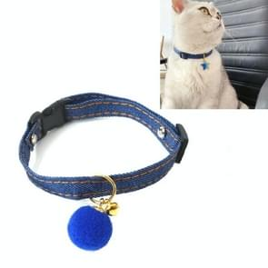 6 PCS Pet Cowboy Cat Dog Collar met Bell Pet Accessoires  Grootte: S 16-32cm  Style: Small Ball