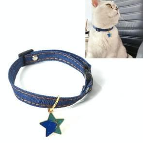 6 PCS Pet Cowboy Cat Dog Collar met Bell Pet Accessoires  Grootte: S 16-32cm  Style: Vijfpuntige ster