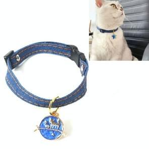 6 PCS Pet Cowboy Cat Dog Collar met Bell Pet Accessoires  Maat: S 16-32cm  Style:Cat