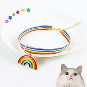 6 PCS Pet Rainbow Hanger Verstelbare Halsband Cat Dog Bunny Bell Accessoires Kraag  Grootte: S 20-25cm (Kleurrijk)