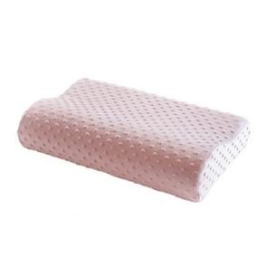 Memory Foam Pillow Latex Neck Pillow Fiber Slow Rebound Soft Pillow Massager for Cervical Health Care, Size:30*50*10cm(pink)