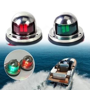 1 paar roestvrijstaal LED Navigatielicht rood groen zeilen signaal licht voor mariene boot jacht waarschuwingslampje  DC 12V