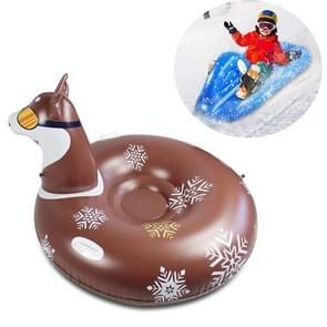 Kinderen Opblaasbare Ski Laps Snowboard Adult Opblaasbare Sneeuw Speelgoed (Husky)