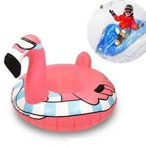 Kinderen Opblaasbare Ski Laps Snowboard Adult Opblaasbare Sneeuw Speelgoed (Flamingo)