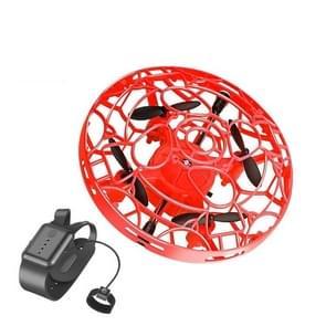 Bekijk afstandsbediening Smart Sensor Aircraft UFO Four-Axis Drie-Assige minidrone  kleur: gebarensensor+horloge (rood)