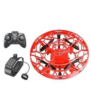 Bekijk afstandsbediening Smart Sensor Aircraft UFO Four-Axis Drie-assige minidrone  kleur: gebarensensor+horloge+afstandsbediening (rood)