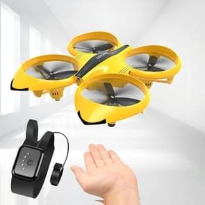 Bekijk afstandsbediening vier-assige speelgoed gebaar inductie drijvende vliegtuigen (Geel)