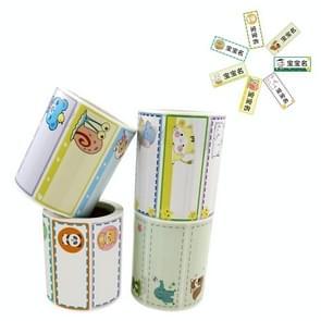 Basisschool kinderen Naam Sticker Label  Grootte: 1x2.5 Inch(4 Combinaties)
