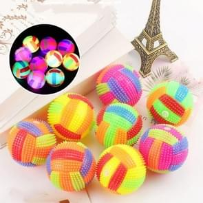 10 PCS Luminous Volleybal Bouncy Ball Massage Ball Whistle Thorn Ball  Random Color Delivery  Diameter: 7.5cm