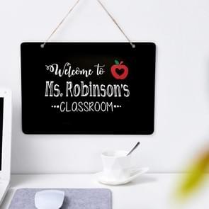 2 PCS dubbelzijdige Lanyard houten kleine blackboard home decoratie bericht eenvoudige vermelding (Vierkant 30x21cm)