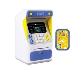 Simulatie Gezichtsherkenning ATM Cash Deposit Box Simulatie Wachtwoord Automatische Rolling Money Safe Deposit Box  Kleur: Blauw (Opladen Versie)