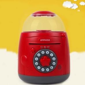 Ei Steamer Vorm Automatische Accoun Vingerafdruk spaarpot (Rood grijs)