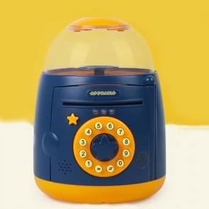 Ei Steamer Vorm Automatische Accoun Vingerafdruk spaarpot (Blauw Geel )