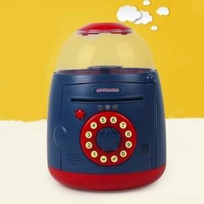 Ei Steamer Vorm Automatische Accoun Vingerafdruk spaarpot (Blauw Rood)
