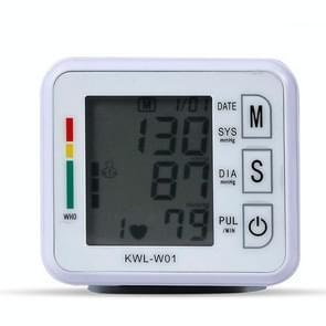 KWL-W01 Home Automatic Smart Wrist Electronic Sphygmomanometer  Style: Engels zonder stem(Wit)