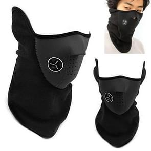 Motorcycle Half Face Winter Warm Windproof Mask Outdoor Sports Ski Caps Snow Neck Guard Balaclavas Scarf Warm Protecting