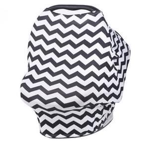 Multi-function Shopping Cart Baby Car Set Cradle Cover Cotton Nursing Towel(Black)