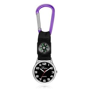 2 PCS Lvpai Nurse Pocket Watch Casual Nurse Pocket Watch (paars)