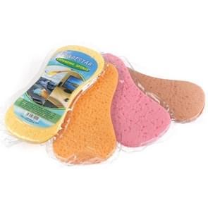10 PCS Honeycomb Car Wash Sponge Grote vacuüm compressie Sponge Car Beauty Waxing Tool (Random Colour Delivery)