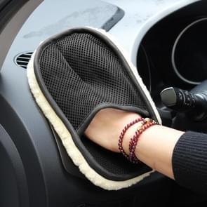 10 PCS Pluche Auto Schoonmaken Waxing Handschoenen Autobenodigdheden (Geel)