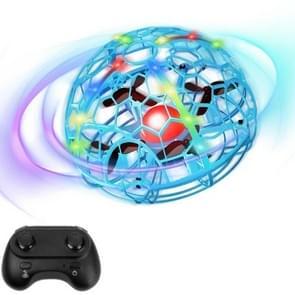 Kleurrijke lichtinductie Flying Ball Afstandsbediening Vier-assige Drone volledig beschermd grid handheld vlak  stijl: blauwe sensor + afstandsbediening