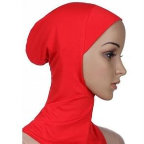 Autumn and Winter Ladies Solid Color Scarf Hooded Modal Headscarf Cap, Size:45 x 43cm(Red)