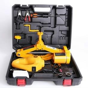 12V DC Automotive Electric Jack with Impact Wrench Car Lift Jack Tool Set(Yellow)