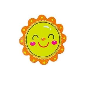 10 PCS kleuterschool tTeaching AIDS magnetische beloning stickers smiley Little Red Flower koelkast Blackboard whiteboard magnetische stickers, grootte: 5 × 5cm (oranje)
