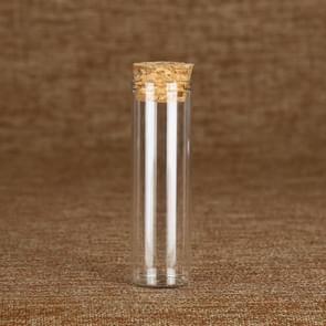 5 PCS Diameter 30mm Straight Cork Bottle High White Material Transparent Glass Small Bottle Multi-spec Reagent Bottle, Specification:30×150mm-80ml(Transparent)