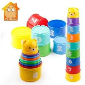 Educatieve baby speelgoed 6 maanden cijfers brieven Foldind stack Cup toren kinderen vroege intelligentie