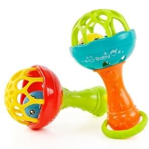 Baby rammelaars speelgoed intelligentie grijpen tandvlees kunststof Hand Bell Rattle grappige educatief speelgoed  kleur willekeurige levering