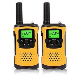 1 Pair Kids Walkie Talkies, 22-Channel FRS/GMRS Radio, 3km Range Mini Two Way Radios with Flashlight and LCD Screen(Yellow)
