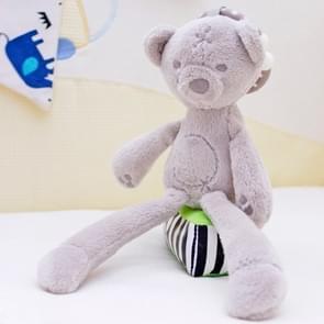 Konijn dragen zachte pluche speelgoed voor kinderbedje kinderwagen met opknoping ring (Bear)