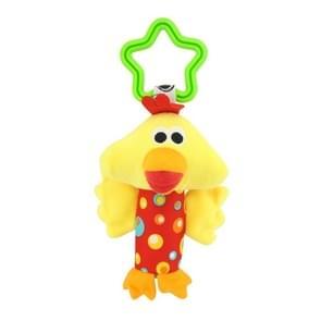Baby rammelaars speelgoed wandelwagen opknoping zachte schattige dier Doll wieg bed opknoping klokken speelgoed (kip)