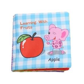 Baby rammel speelgoed zachte dierlijke doek boek pasgeboren wandelwagen opknoping speelgoed vroeg leren onderwijs baby speelgoed (fruit)
