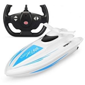 Energy Tiger NO.1 2.4G Afstandsbediening Boat Model 4 Channel Dual Motor Afstandsbediening Speed Boat (Blauw)