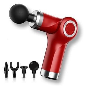 Fascia Gun Pocket Electric Shock Gun Muscle Massage Gun  Specificatie: Vouwen (Rood)