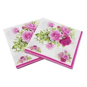 5 PCS kleurrijke gedrukte servet gezichtsweefsel  willekeurige kleur levering