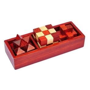 Klassieke houten educatieve speelgoed Kongming Lock Luban Lock Intelligence Unlock