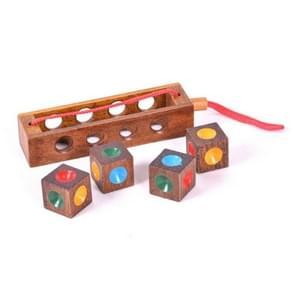 2 Sets Volwassen Houten Educatieve Speelgoed Cube Block Kleur Matching Chess