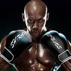 SHIRAN Q1001 Boksen Sanda Handschoenen Training Fighting Professional Fitness Handschoenen  Grootte: 10OZ (Donker Zwart)