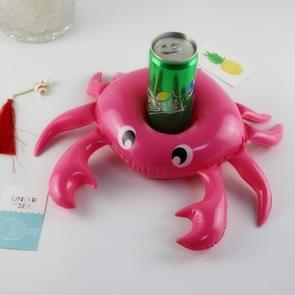 3 PCS Crab Shape Inflatable Floating Drink Coaster, Middle Ring Diameter: 7.5cm