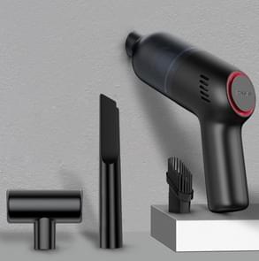 SHANEN 120W 8000Pa Auto stofzuiger Auto draadloos opladen krachtige krachtige Mini Handheld Stofzuiger Zwart