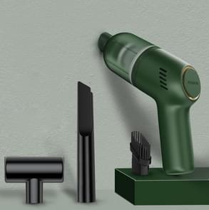 SHANEN 120W 8000Pa Auto stofzuiger Auto draadloos opladen Krachtige krachtige Mini Handheld Stofzuiger Groen